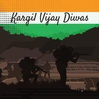 Kargil Vijay Diwas Concept vector