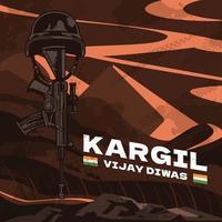 Kargil Vijay Diwas Celebration Concept vector