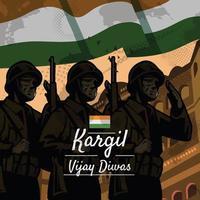 Kargil Vijay Diwas Event Concept vector