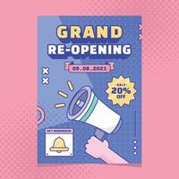 Grand Re-Opening Poster Template vector