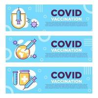 infografía de vacuna covid19 vector