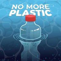 No More Plastic Concept vector