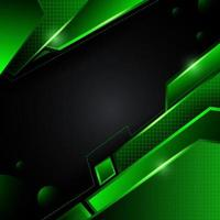 Green Techno Background vector