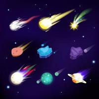 Various of Meteors Elements vector