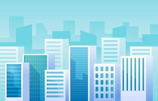 Modern Cityscape with Landscape View Background vector