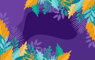 Tropical Floral and Leaves with Fluid Background vector