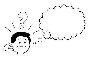 Cartoon Man Confused Vector Illustration