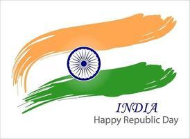 imagen vectorial de la bandera nacional india vector