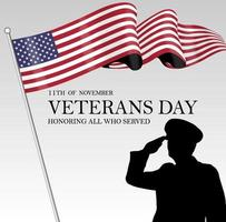 Vector image of the 11th day of veterans day november