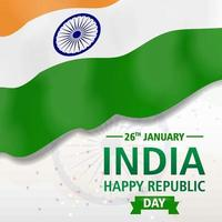 Indian national flag vector image