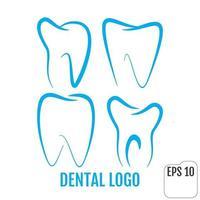 Dental clinic logos set Dental office logo vector