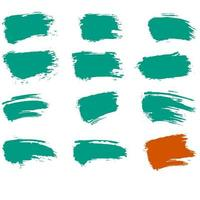 Turquoise and orange grunge textures vector