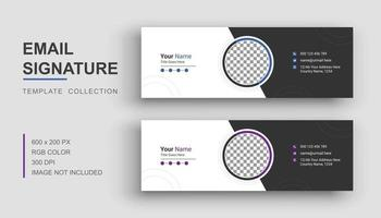 Email signature template vector