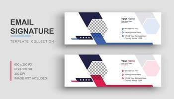 Email signature or email footer design template vector