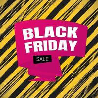 Black friday sale inspiration poster, banner or flyer vector illustration isolated on brush stroke background.