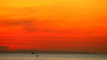 Sunset Dark Red Sunset on The Dark Sea video