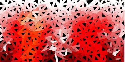 diseño de mosaico de triángulo vector rojo claro, amarillo.