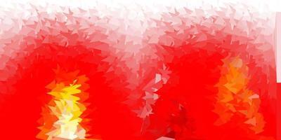 Telón de fondo de triángulo abstracto de vector rojo, amarillo claro.