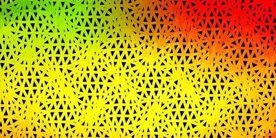 patrón de triángulo abstracto vector rojo claro, amarillo.