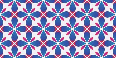 Flower geometric pattern gradient background vector illustration