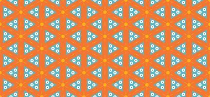 Geometric triangle pattern background orange vector illustration