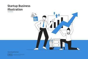 Startup opportunity, investment venture, financial adviser, business launch, franchising, mentoring concept. Success metaphor flat design web landing page or mobile website vector