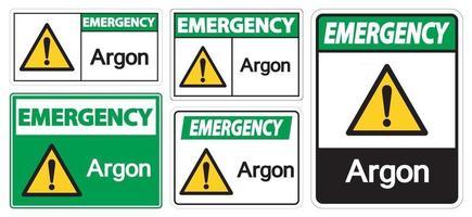Emergency Argon Symbol Sign Isolate On White Background,Vector Illustration EPS.10 vector