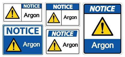 Notice Argon Symbol Sign Isolate On White Background,Vector Illustration EPS.10 vector