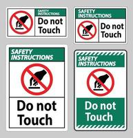 Safety Instructions Do Not Touch Symbol Sign Isolate On White Background vector