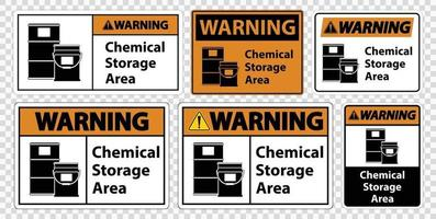 Warning Chemical Storage Symbol Sign Isolate on transparent Background,Vector Illustration vector