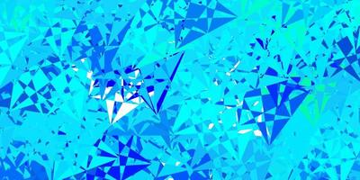 Dark blue, green vector template with triangle shapes.