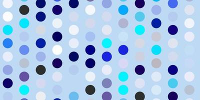 Light blue vector background with bubbles.