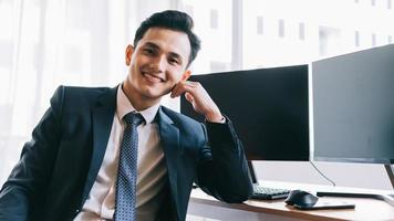 Asian businessman in the office photo