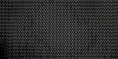 Dark Gray vector template with lines, triangles.