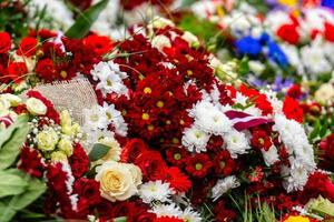 Flower bouquet with Latvian flag. Latvian Independence Day - image photo