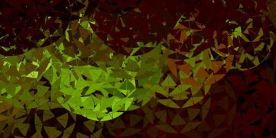 Dark green, yellow vector template with triangle shapes.