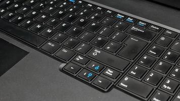 Black computer keyboard. photo