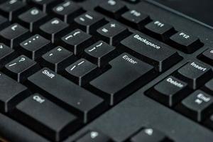teclado de computadora negro. foto