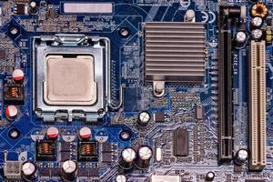 Close-up computer mother board photo