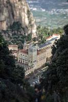 Santa Maria de Montserrat Monastery. View from the mountains. photo