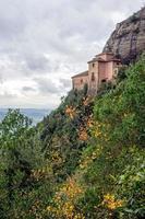 View of the Monastery to Santa Cova. Montserrat. Spain. photo
