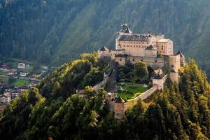 Hohenwerfen castle and fortress above the Salzach valley at Werfen on Austria photo