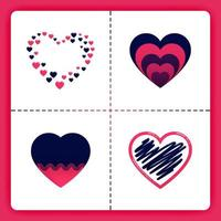 amor logo sobre el tema de pilas garabatos amor espolvorear se puede usar para negocios romance organizador de bodas agencia de emparejamiento invitación cosas de chicas de san valentín vector