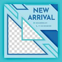 social media post templates For personal and business accounts Modern promotion square blue social media banner with geometric elements automotive and technology square background banner template vector