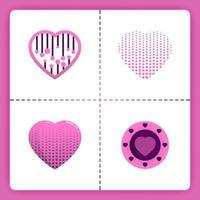 El logotipo de amor con spingkle y el tema de semitonos se puede utilizar para el romance de negocios. Organizador de bodas. Invitación de la agencia de emparejamiento. vector