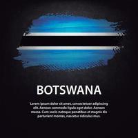 Botswana flag brush vector