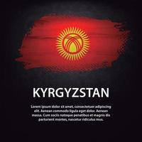 Kyrgyzstan flag brush vector