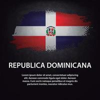 Republica Dominicana flag brush vector