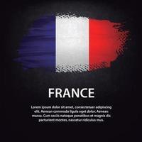France flag brush vector