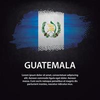 cepillo de bandera de guatemala vector